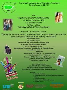 Segundo Encuentro Multisectorial de Salud Sexual en PR- 7 de diciembre de 2012