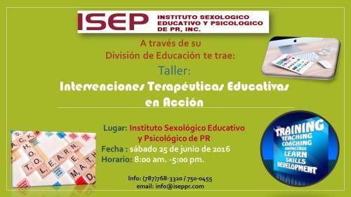 Taller de Capacitación para el Terapeuta Educativo