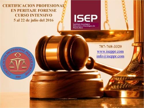 Certificación Profesional en Peritaje Forense – Curso Intensivo